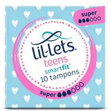 Lil-lets Teens Super Non-Applicator Tampons